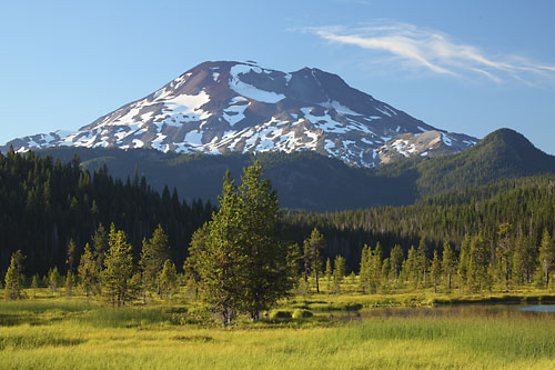 Hosmer Lake, South Sister, Cascade Mountains Oregon.