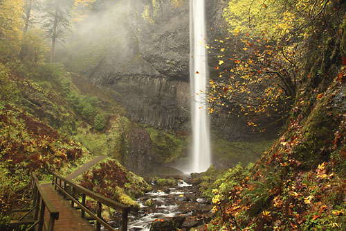 Trails and Waterfalls in the Columbia Gorge, Oregon