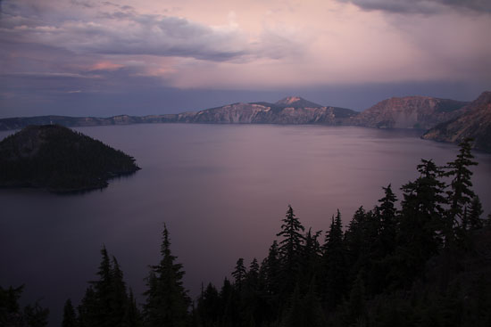 Crater Lake and Wizard Island, Crater Lake National Park Oregon