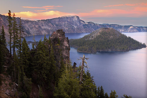 Crater Lake and Wizard Island Crater Lake National Park Oregon