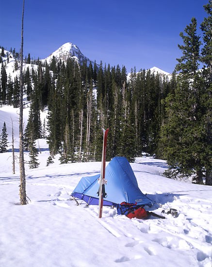 Ski Camp Tent, Maybird Gulch, Wasatch Mountains, Utah