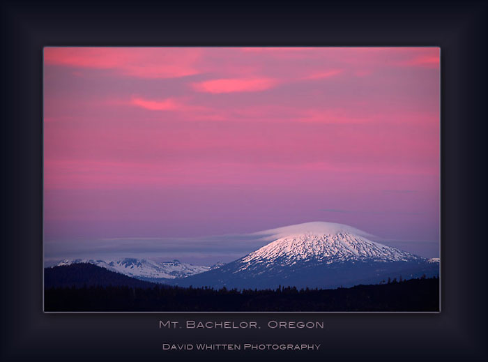 Mt. Bachelor, Cascade Mountains, Oregon.