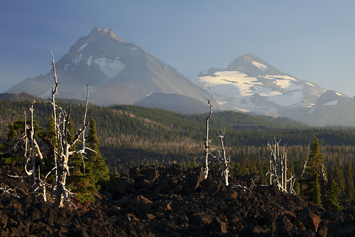 Lava North Sister Middle Sister McKenzie Pass Oregon