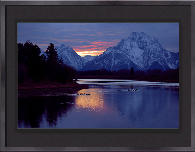 Oxbow Bend Snake River framed photograph Grand Teton National Park