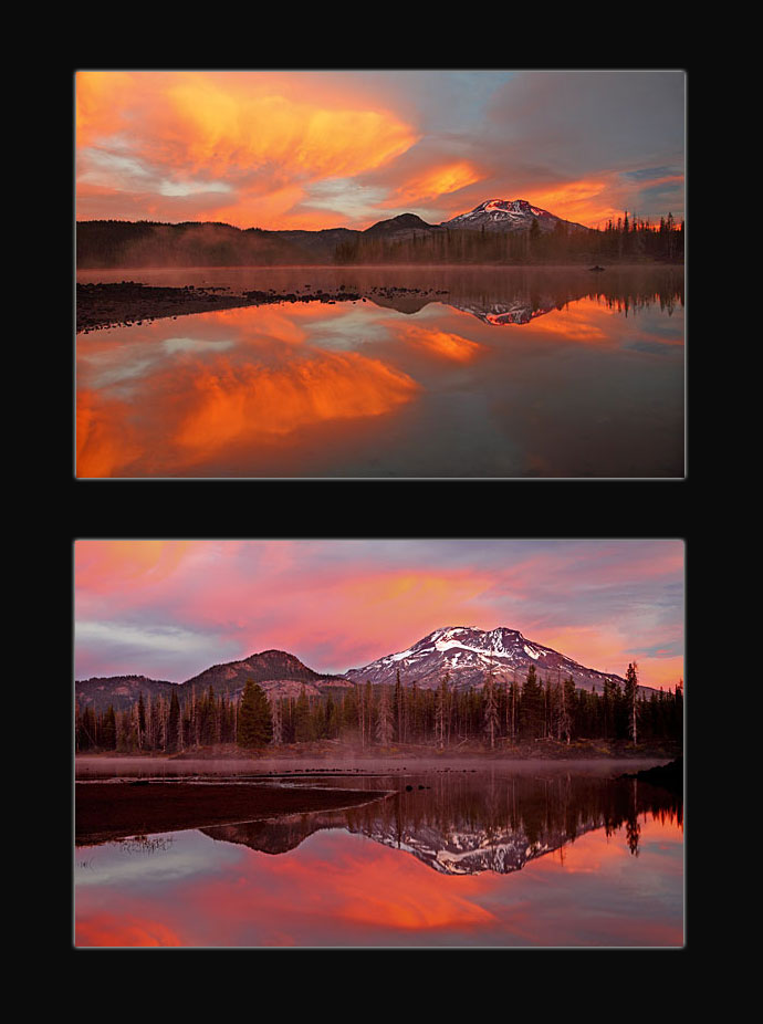 Autumn Color and South Sister at Sparks Lake, Cascade Lakes near Bend Oregon