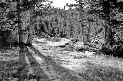 Utah Uinta Mountains, West Basin Black and White Photography
