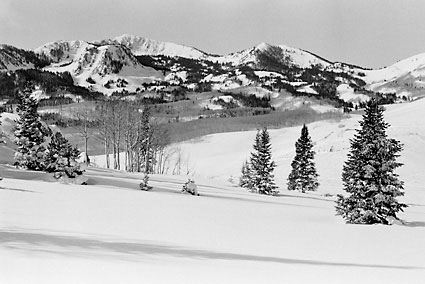 Park City Wasatch Mountains Utah Black and White Photograph