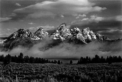 Grand Teton National Park Wyoming Black and White Photograph