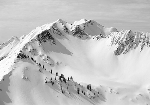 Cardiac Bowl, Wasatch Mountains, Utah photographer David Whitten black and white photographer photography