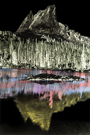 Hand Colored Black and White Photographs El Capitan Sawtooth Mountains Idaho