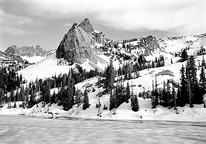 Sundial Peak Lake Blanche Wasatch Mountains Utah Black and White Photography