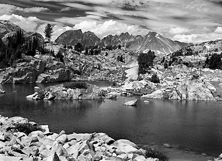 Sawtooth Mountain Wolf Mountain Beartooth Mountains, Montana Black and White Photograph