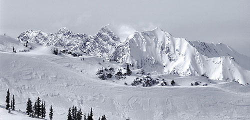Superior Peak from Alta Wasatch Mountains photograph Utah