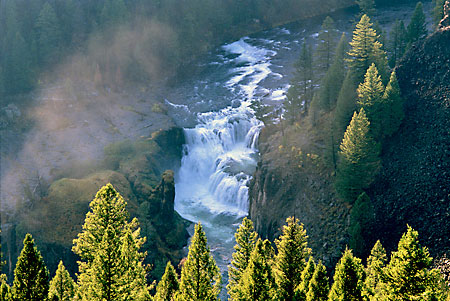 Lower Mesa Falls photo Henry's Fork River, Idaho photography