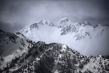 Superior Peak Wasatch Mountains, Utah Black and White Photography