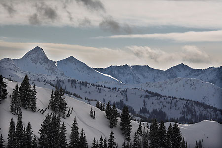 Little Cottonwood Canyon Wasatch Mountains Backcountry Skiing Utah photograph