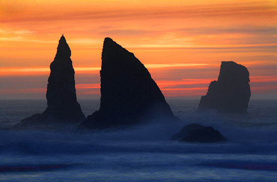 Sea Stacks, China Beach  Oregon Coast Samuel H. Boardman State Park near Brookings and Gold Beach Oregon Photograph by David Whitten