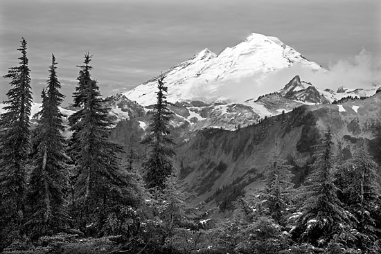 Mt. Baker North Cascades National Park Washinton Mt. Baker Artist Point black and white photography photographer David Whitten