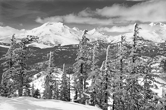 South Sister - Black and White Photograph, Cascade Mountains, Utah Limited Edition Print by David Whitten Photography