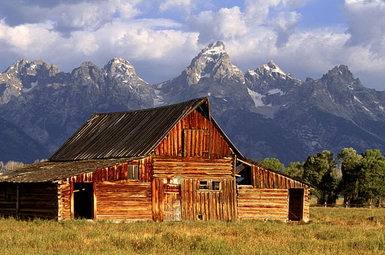 Moulton Barn Tetons Jackson Hole photography Grand Teton National Park Wyoming - photographer David Whitten