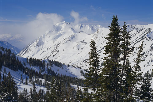 Superior Peak from Twin Lakes Pass and Little Cottonwood Canyon Wasatch Mountains Utah fine art photography Photographer David Whitten