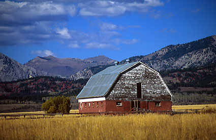 Barn Salt River Mountains Wyoming Fine Art Photography