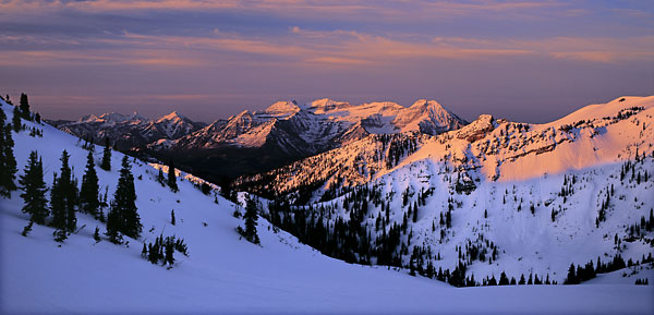 Mt. Timpanogos from Alta - Snowbird Wasatch Mountains Utah photograph