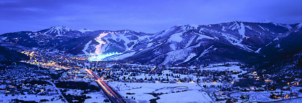 Park City and  Deer Valley Utah at night