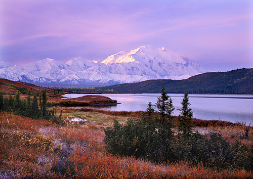 Mt. McKinley photo Alaska Range Wonder Lake Denali National Park Alaska Photography website
