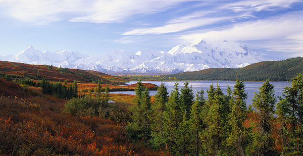 Mt. McKinley photo Alaska Range Wonder Lake Denali National Park Alaska Photography Panorama Panoramic Photograph