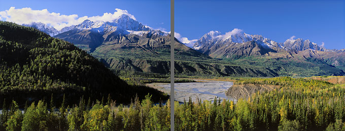 Matanuska River Chugach Mountains Alaska Photographer David Whitten