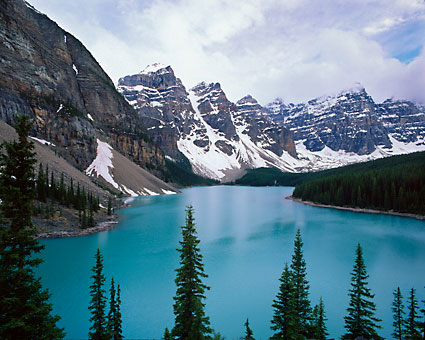 Moraine Lake Valley of the Ten Peaks photograph Banff National Park Alberta Canada