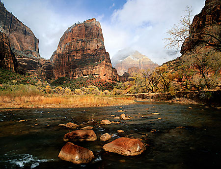 Virgin River, Angel's Landing, Zion National Park photograph, Utah
