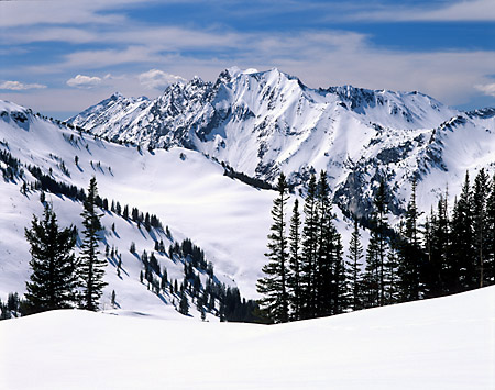 Superior Peak Alta Ski Area from Catherine Pass Little Cottonwood Canyon Wasatch Mountains Utah photography