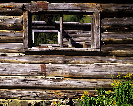 mining cabin beartooth mountains montana lulu pass Fine Art PHotography