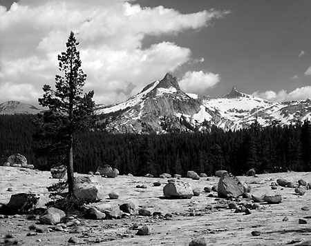 Cathedral Peak Unicorn Peak Yosemite National Park California Black and White Photograph