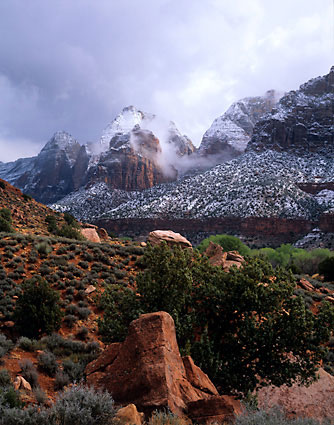 Zion Canyon Zion National Park Utah photograph, photo by David Whitten