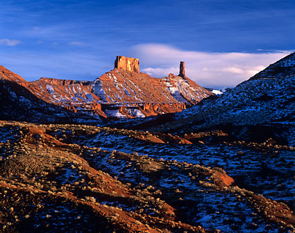 Castle Rock Priest and Nuns Castle Valley Utah photograph