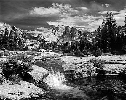 Wind River Rocky Mountain Stream Black and White Photograph