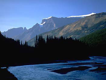Athabasca River Jasper National Park photo Alberta Canada