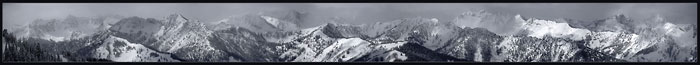 Utah Mountains winter photo, Wasatch Mountains Photograph by David Whitten